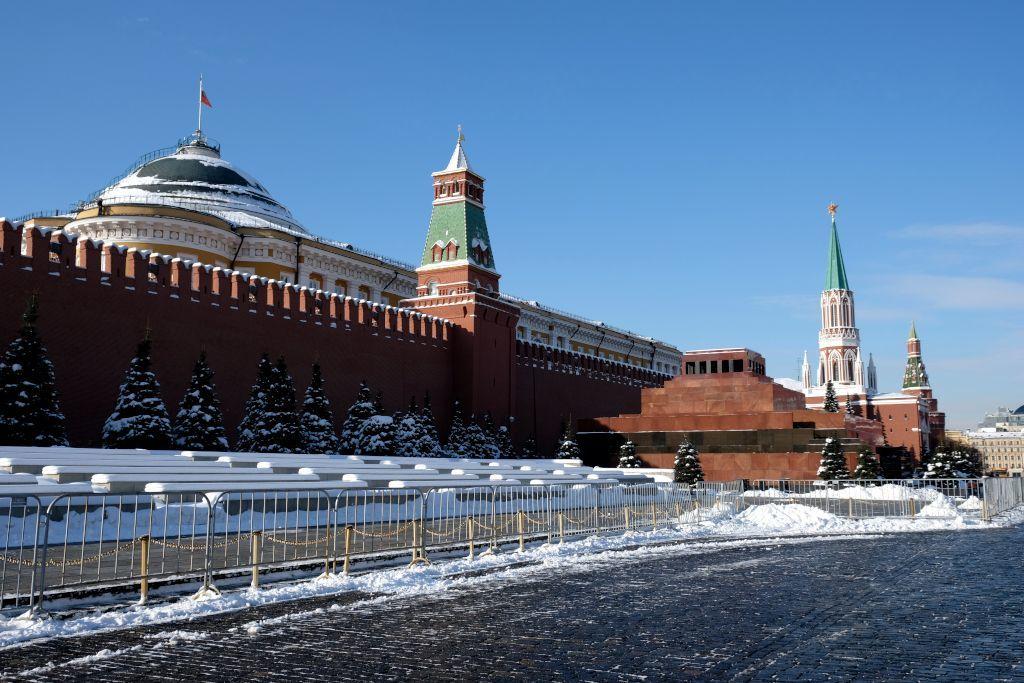Lenin Mausoleum und Kreml Mauer