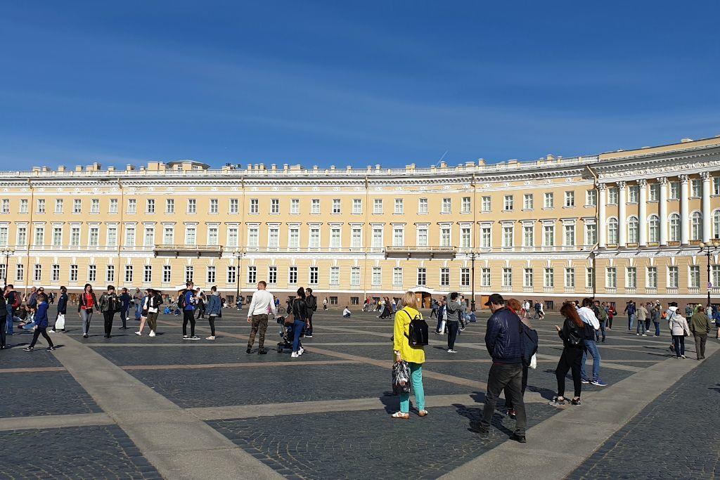 Gebäudeteil des General-Hauptsitzes auf dem Schlossplatz