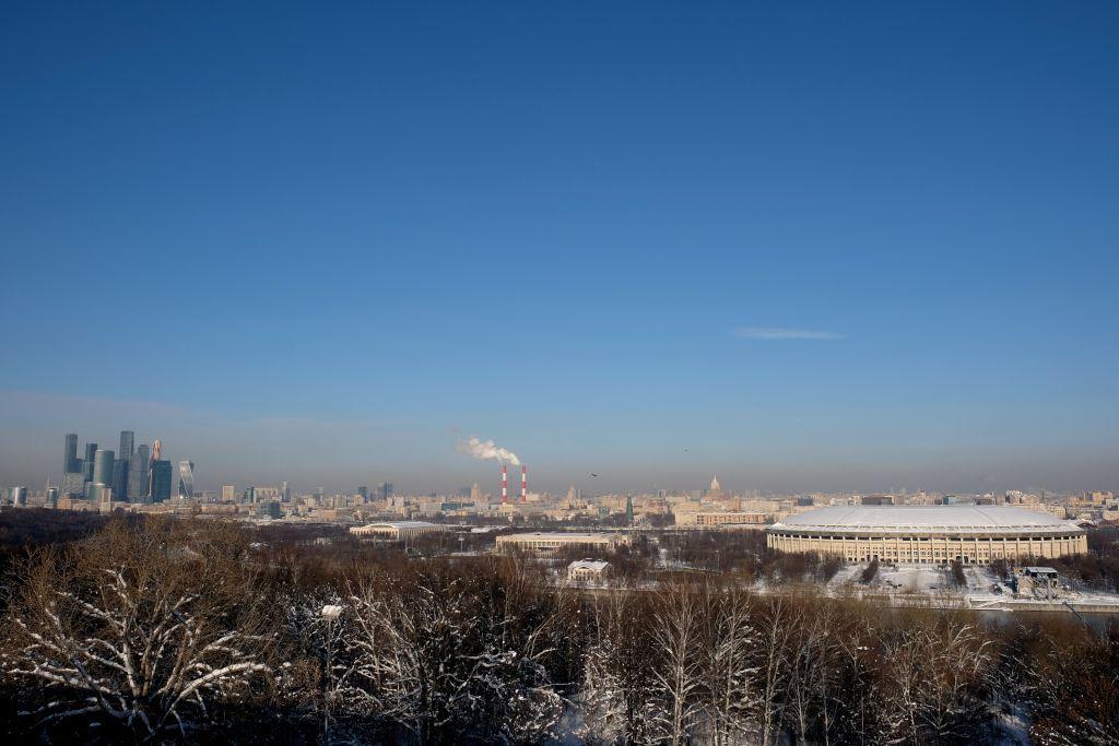Blick von den Sperlingsbergen auf Moskau