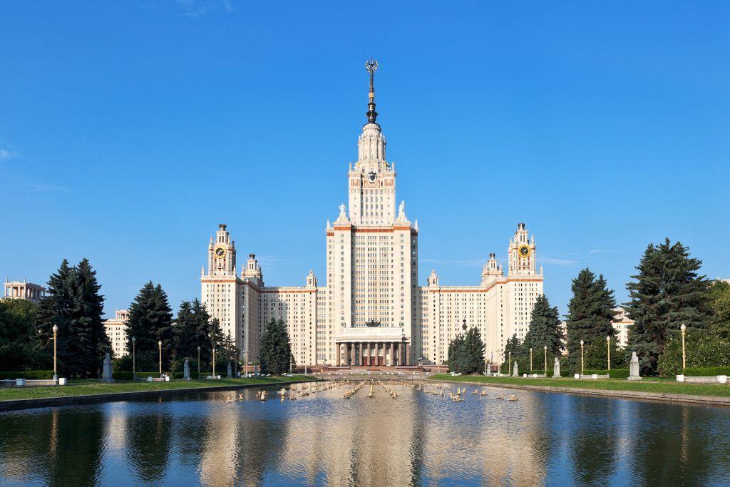 Gebäude der staatlichen Universität Moskau