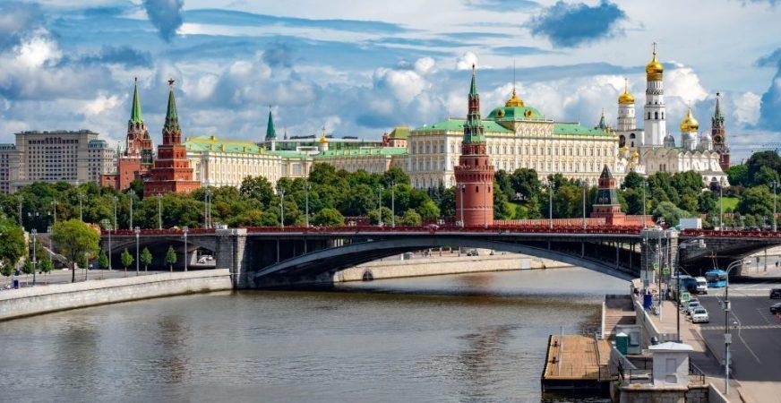Blick auf die Moskwa und den Kreml in Moskau