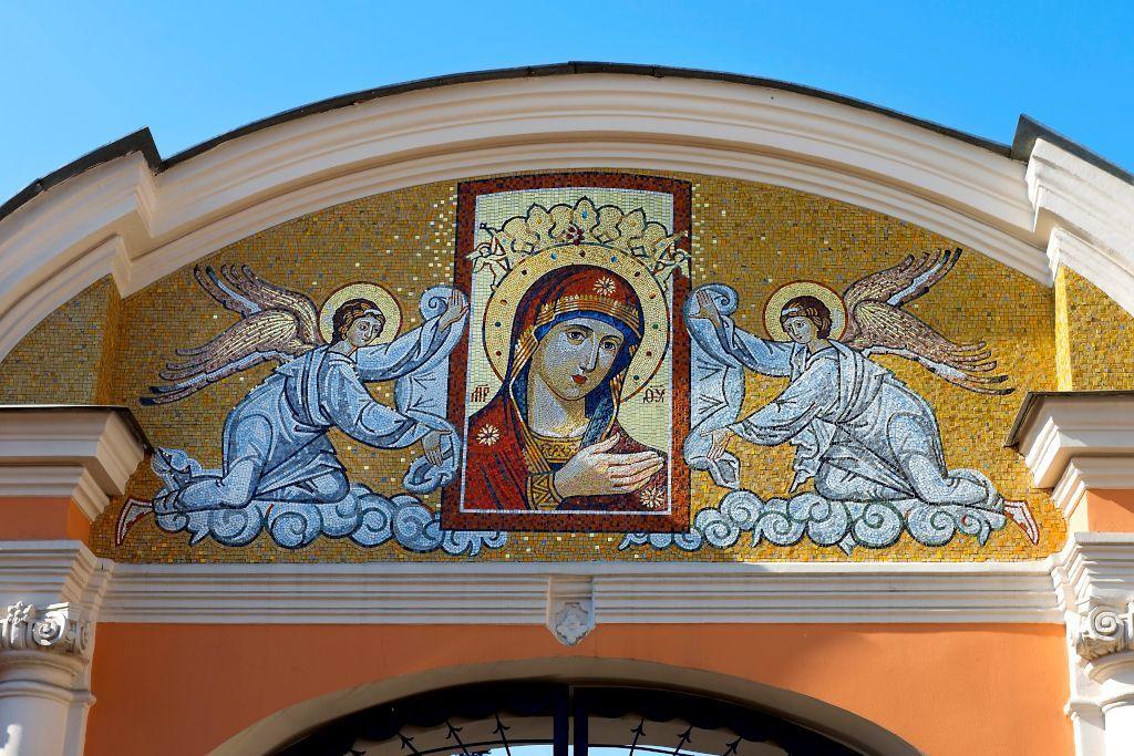 Mosaik der Ikone der Gottesmutter