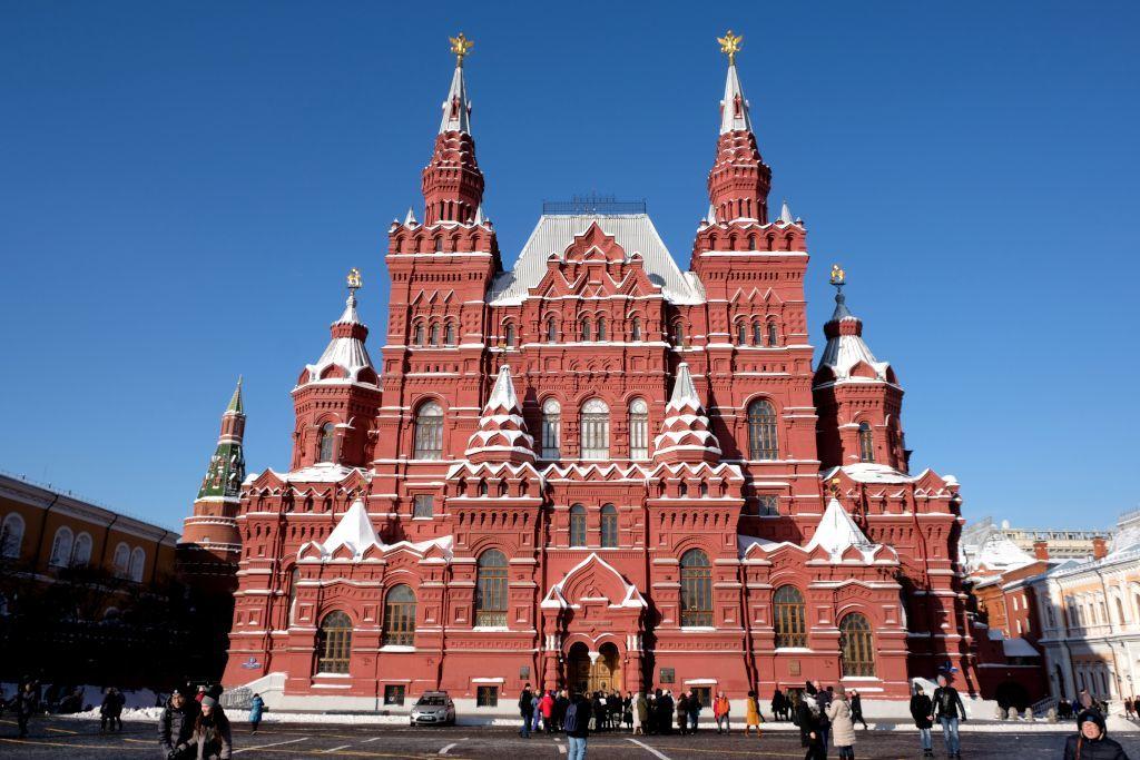 Historisches Museum vom Roten Platz aus im Winter