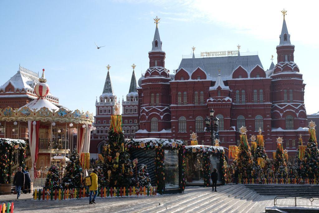 Staatliches Historisches Museum in Moskau im Winter