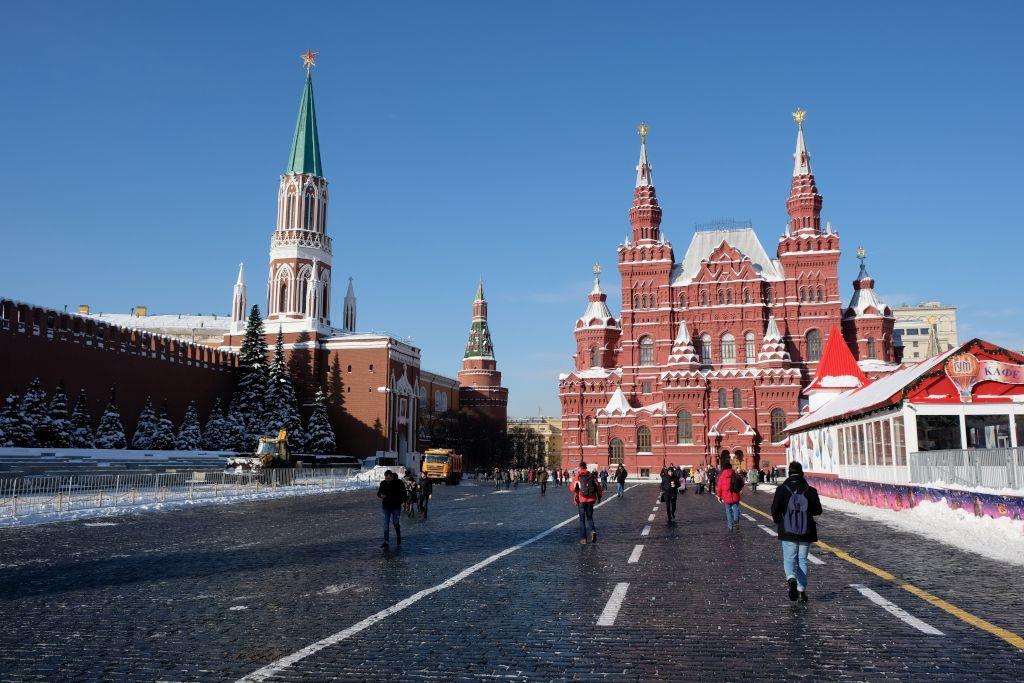 Roter Platz in Moskau mit dem Historischen Museum