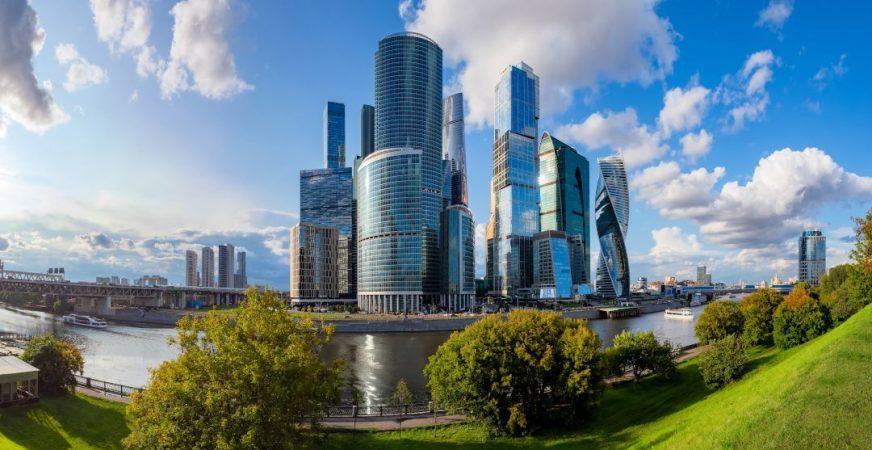 Skyline von Moskau City