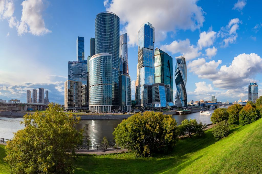 Skyline von Moskau