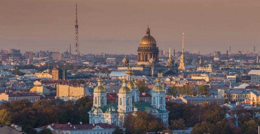 Sankt Petersburg von oben mit der St. Isaak Kathedrale