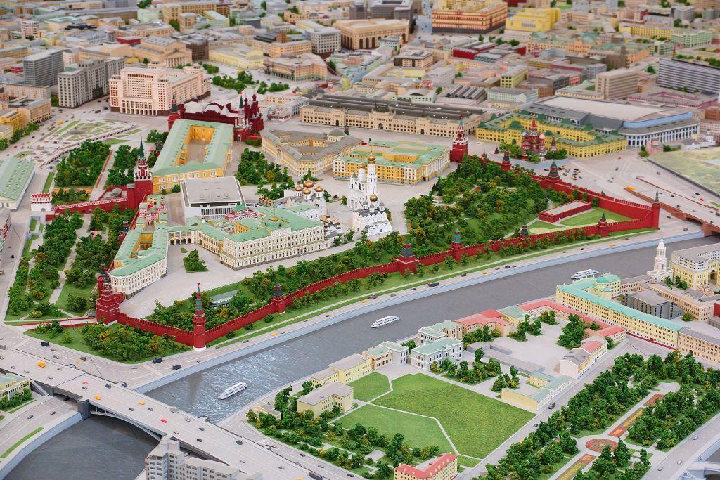 Pavillon Modell Moskau im WDNCh in Moskau