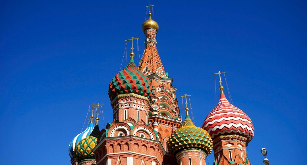 Türme der Basilius Kathedrale in Moskau