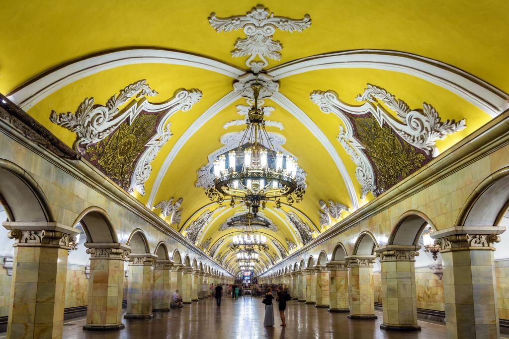 Komsomolskaya Metrostation in Moskau