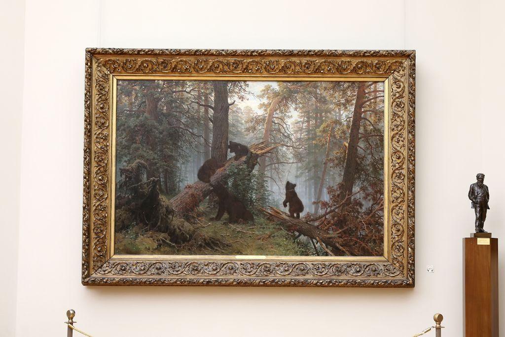 Iwan Schischkin und Konstantin Sawitski - Morgen im Kieferwald