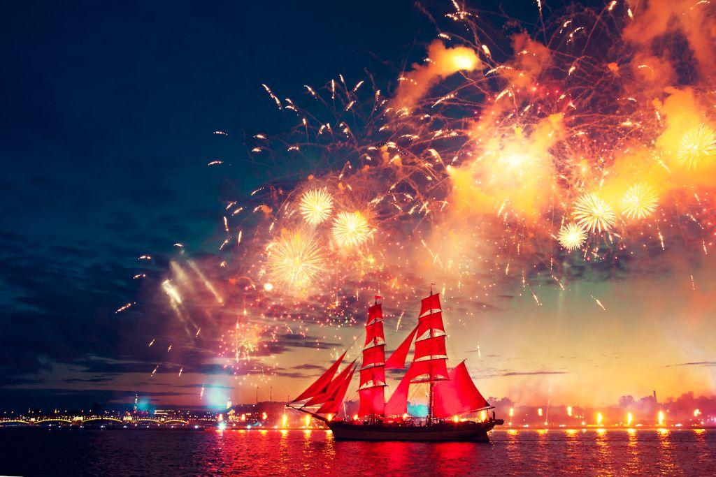 Festival Scharlachrote Segel in Sankt Petersburg