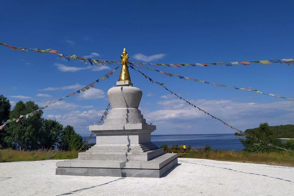 Pagode in Tankhoi am Baikalsee