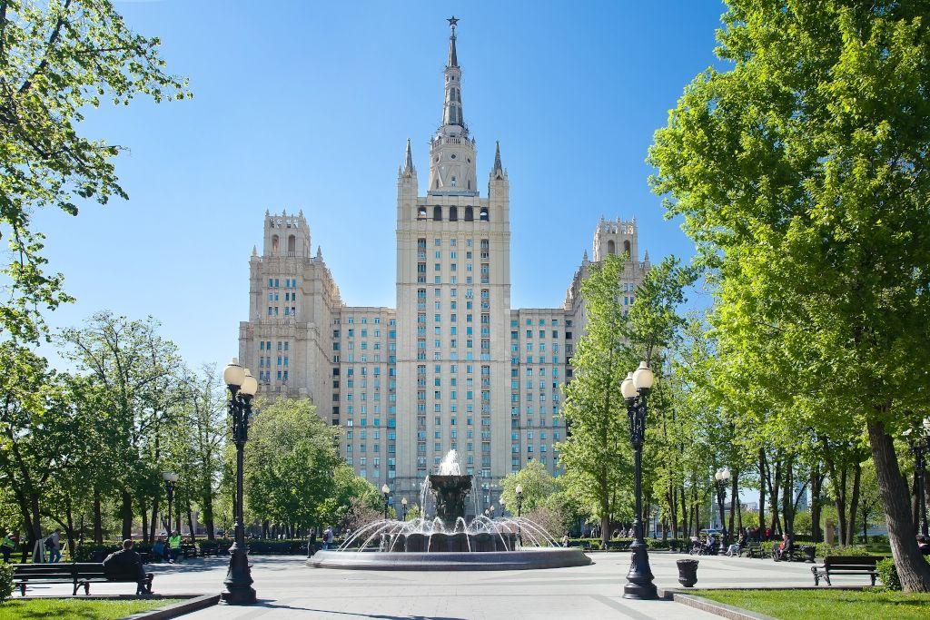 Sieben Schwestern Stalin in Moskau - Wohnhaus am Kudrinskaja-Platz