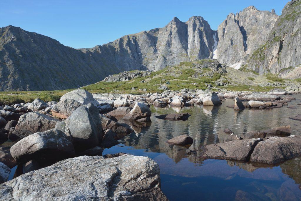 Bargusin Berge mit Bergsee