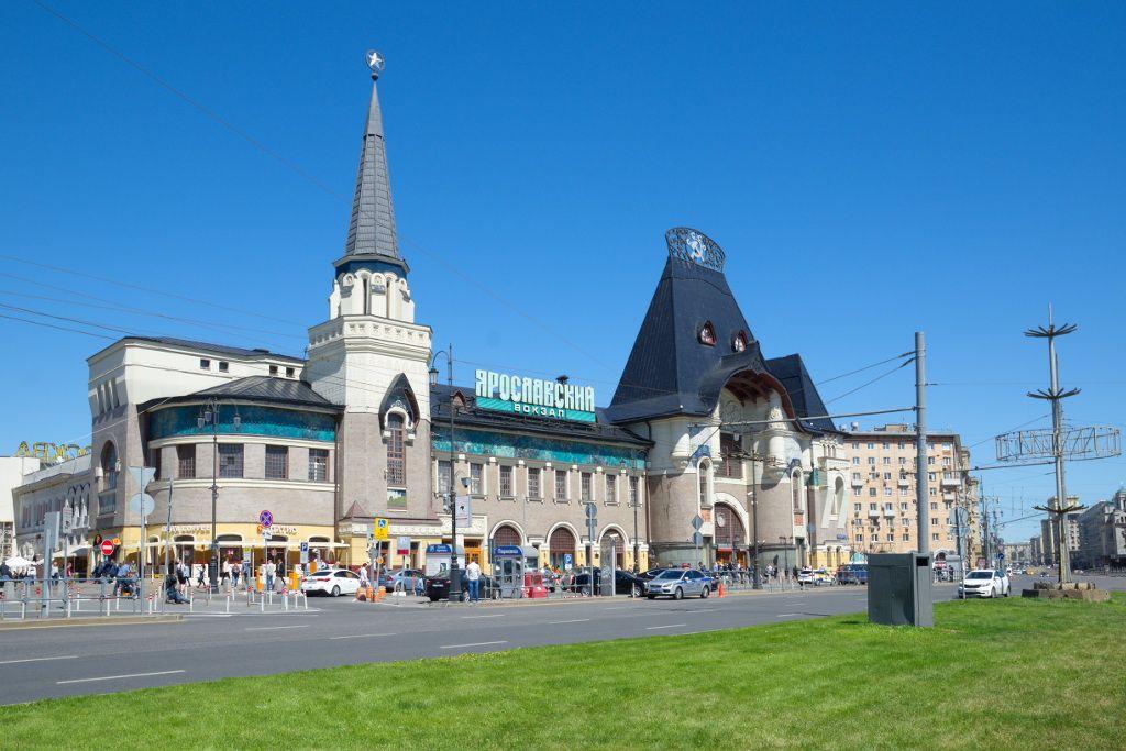 Jaroslawer Bahnhof in Moskau