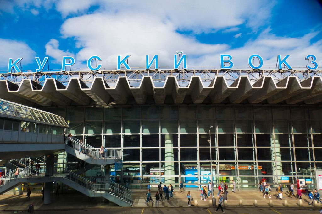 Kursker Bahnhof in Moskau