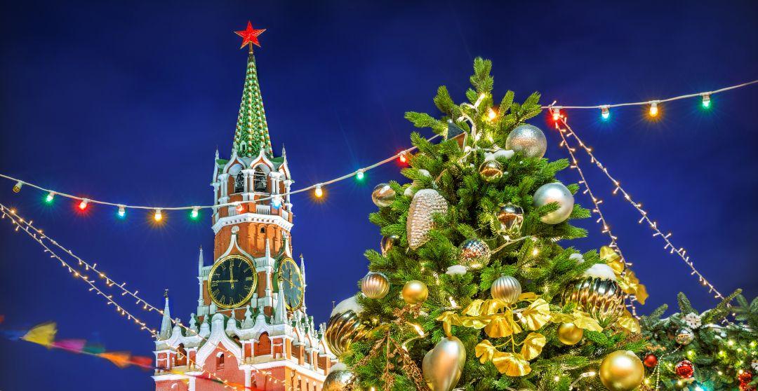 Neujahr in Russland auf dem Roten Platz - Feiertage in Russland