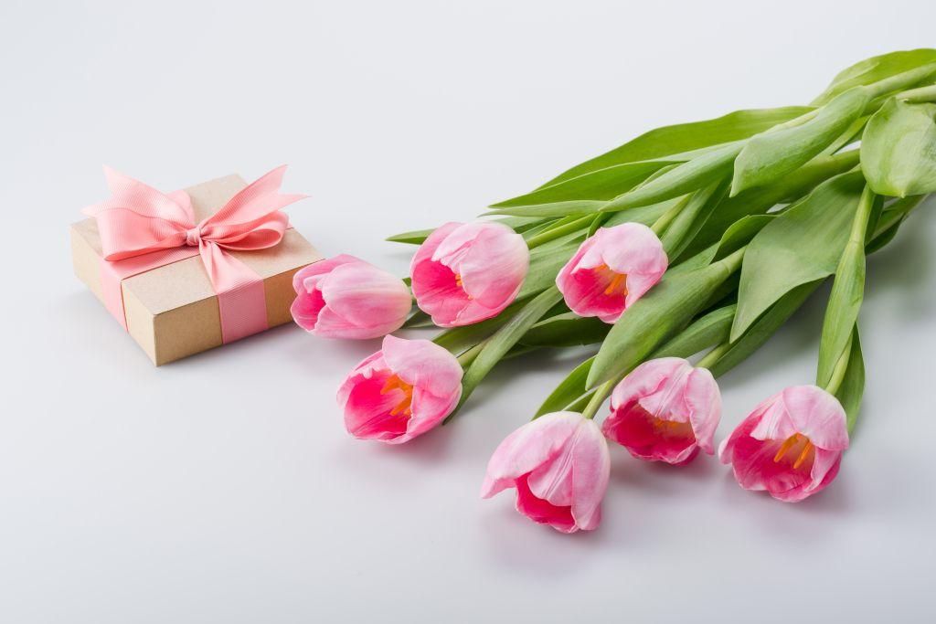 Blumen zum Weltfrauentag am 8. März in Russland
