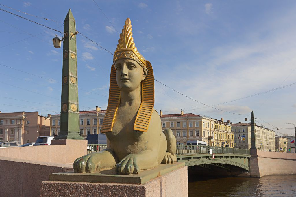 Ägyptische Brücke in Sankt Petersburg