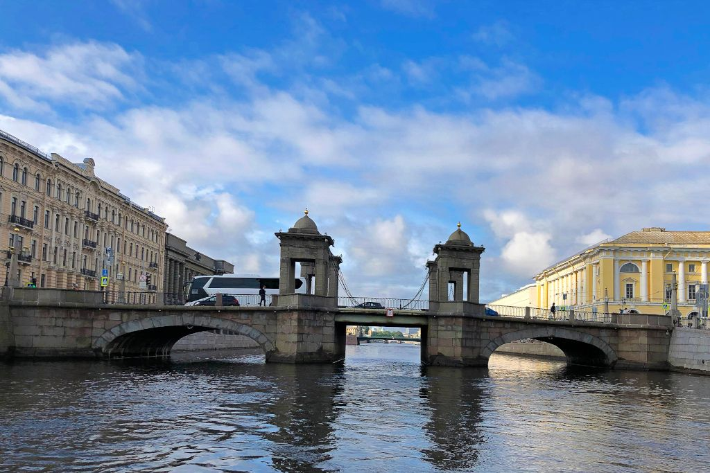Lomonossow Brücke in Sankt Petersburg