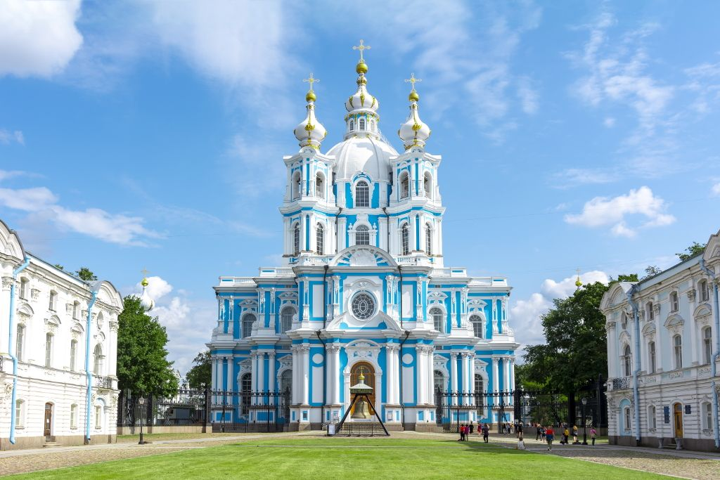 Smolny Kathedrale in Sankt Petersburg