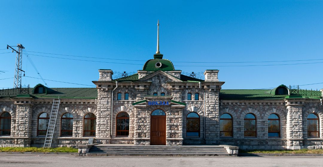 Marmor Hauptbahnhof in Sljudjanka am Baikalsee