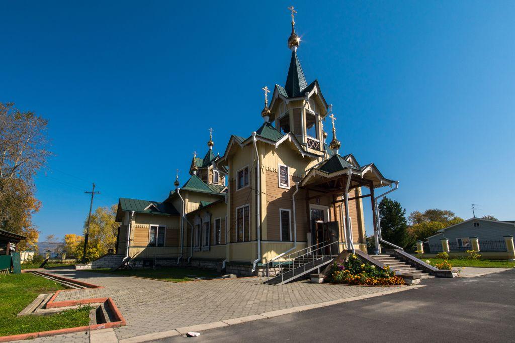 Holzkirche in Sljudjanka am Baikalsee