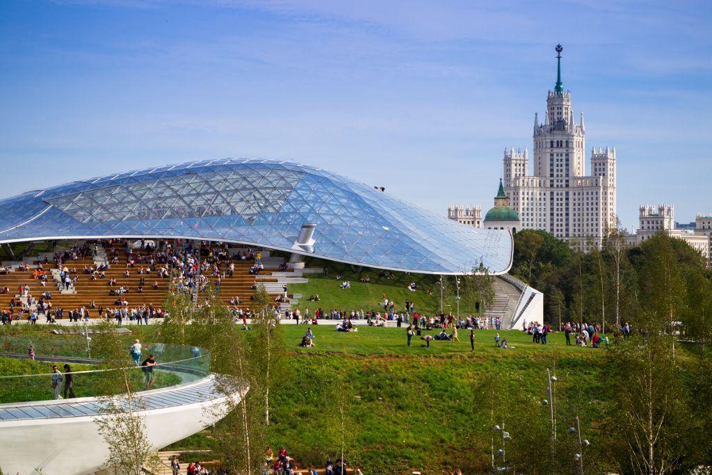 Amphitheater im Sarjadje-Park in Moskau