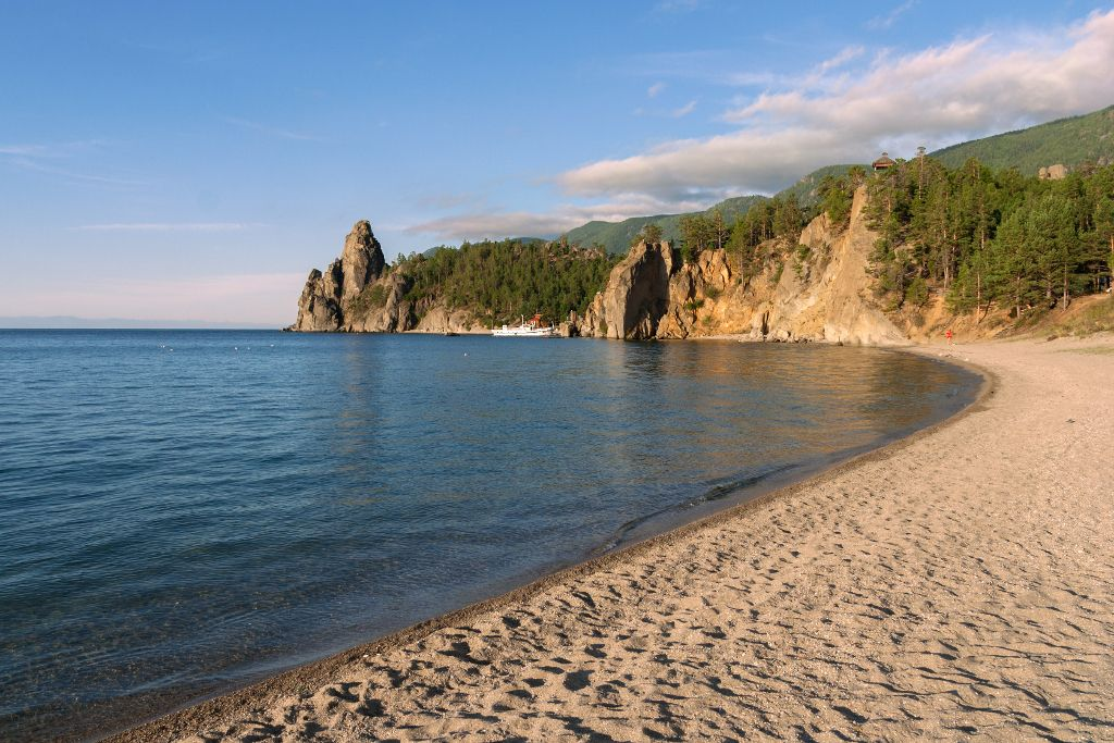 Sandbucht am Baikalsee