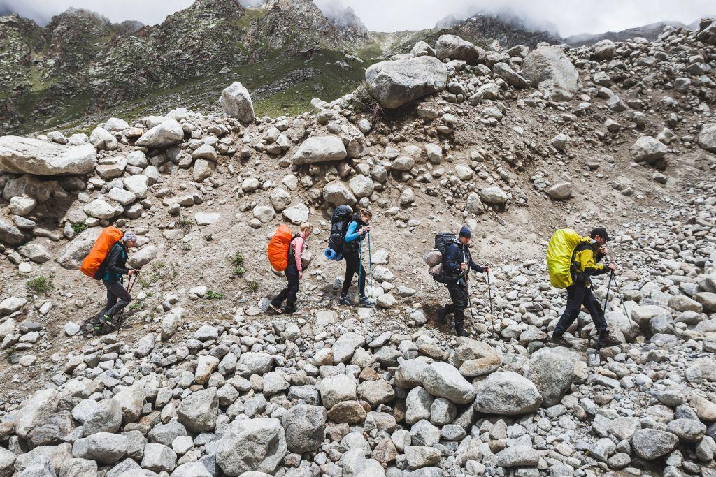 Wandergruppe zum Gipfel des Elbrus