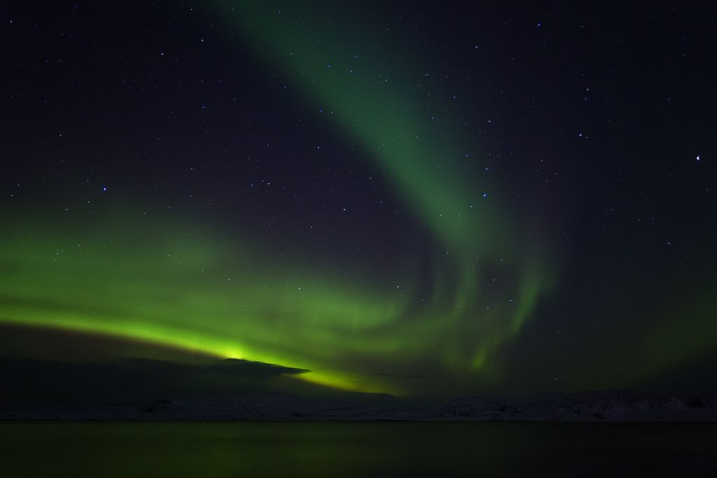 Polarlichter in Teriberka bei Murmansk