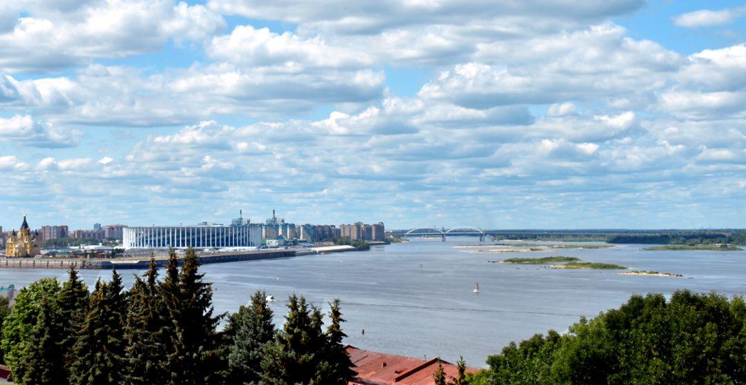 Längste Flüsse in Russland Wolga