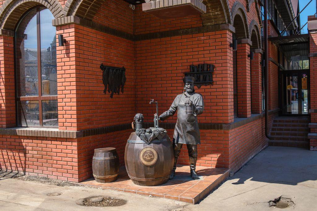 """Denkmal an der Bierbrauerei """"Zhiguli"""""""