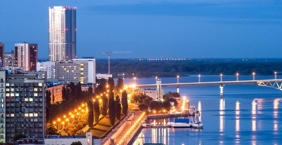 Promenade an der Wolga in Saratow