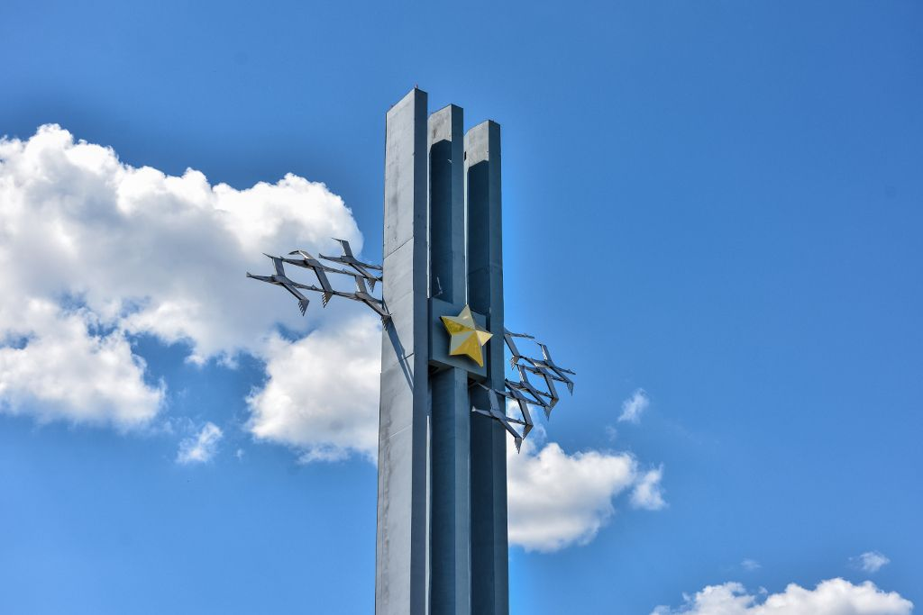 Kranich Denkmal im Siegespark von Saratow