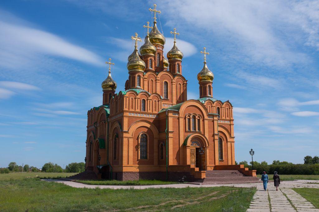 Atschair Frauenkloster außerhalb von Omsk