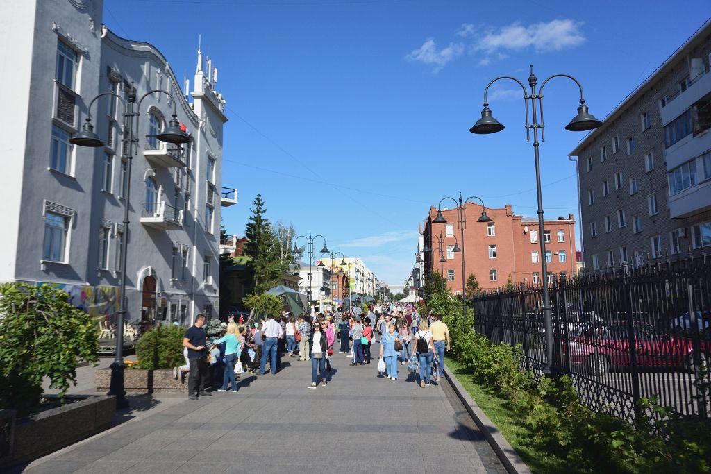 Arbat von Omsk, zentrale Fußgängerzone