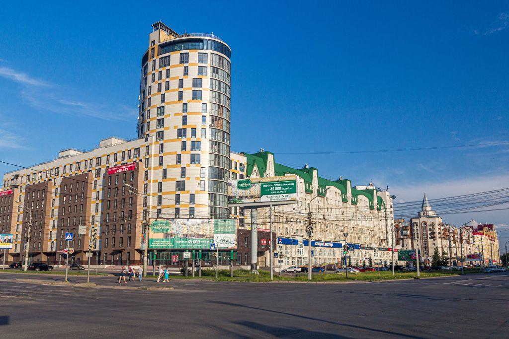 Gebäude im Stadtzentrum von Omsk