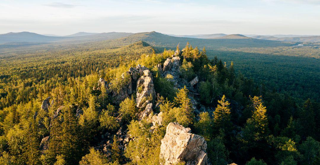 Ural Gebirge von oben