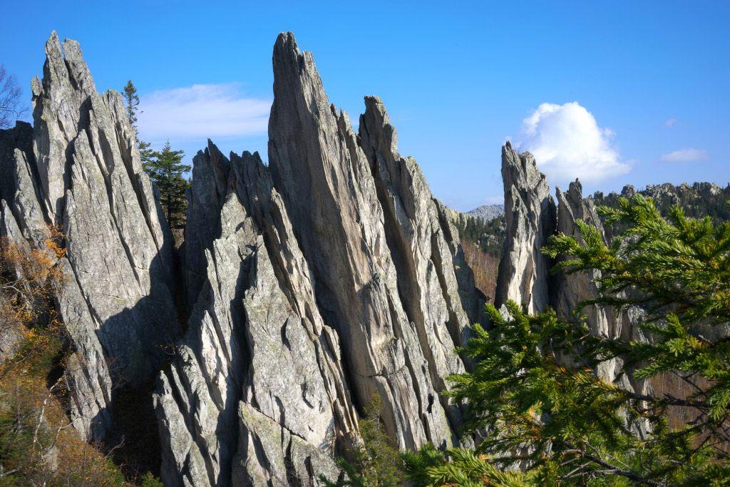Felsen im Ural Gebirge