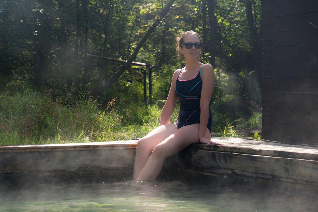 Heiße Quelle in Khakussy