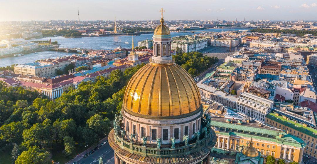 Sankt Petersburg von oben entdecken - St. Isaak Kathedrale