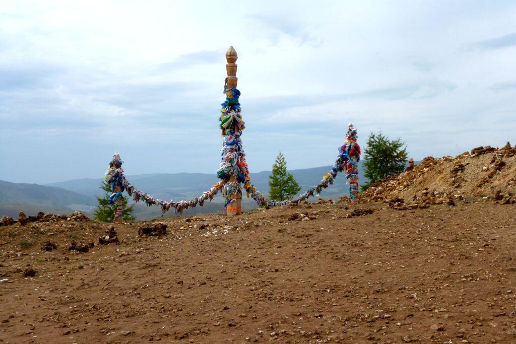 Bunte Bänder am Baikalsee