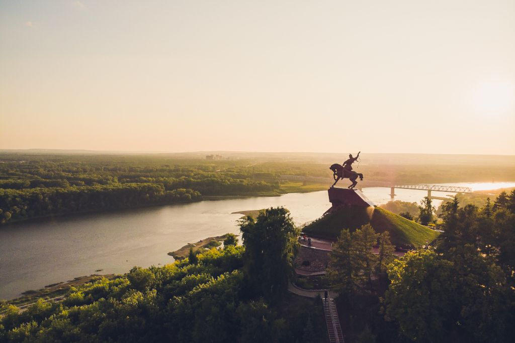 Julajew Denkmal in Ufa