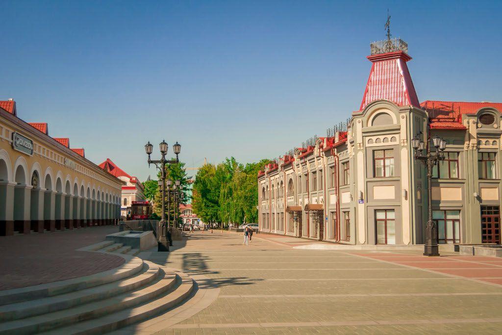 Zentrum der Stadt Ufa in Russland